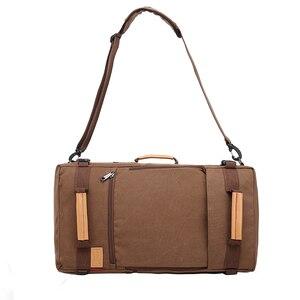 Image 2 - Magic union masculino mochila 20/22 polegada grande viagem mochila lona saco sling mochila caminhadas mochilas de acampamento para homens
