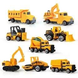 4 вида стилей мини литья под давлением сплав инженерной автомобиль трактор игрушка самосвал классическая модель автомобиля Развивающие иг...
