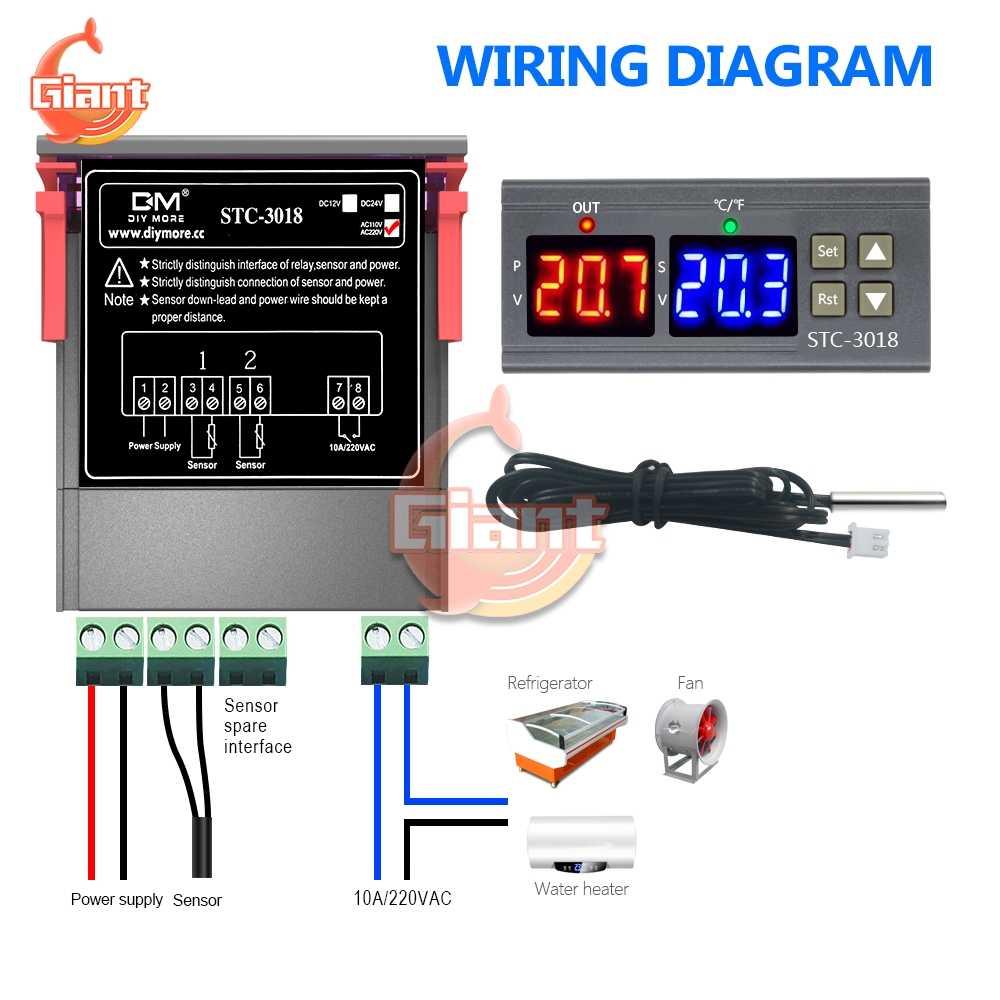STC-1000 STC-3018 STC-3028 STC-3000 STC-3008 Termostato Digitale Termometro Igrometro di Umidità di Temperatura Regolatore Regolatore