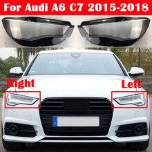 Auto Kopf Lampe Licht Fall Für Audi A6 C7 2015-2018 Auto Front Scheinwerfer Objektiv Abdeckung Lampenschirm Glas Lampcover caps Scheinwerfer Shell