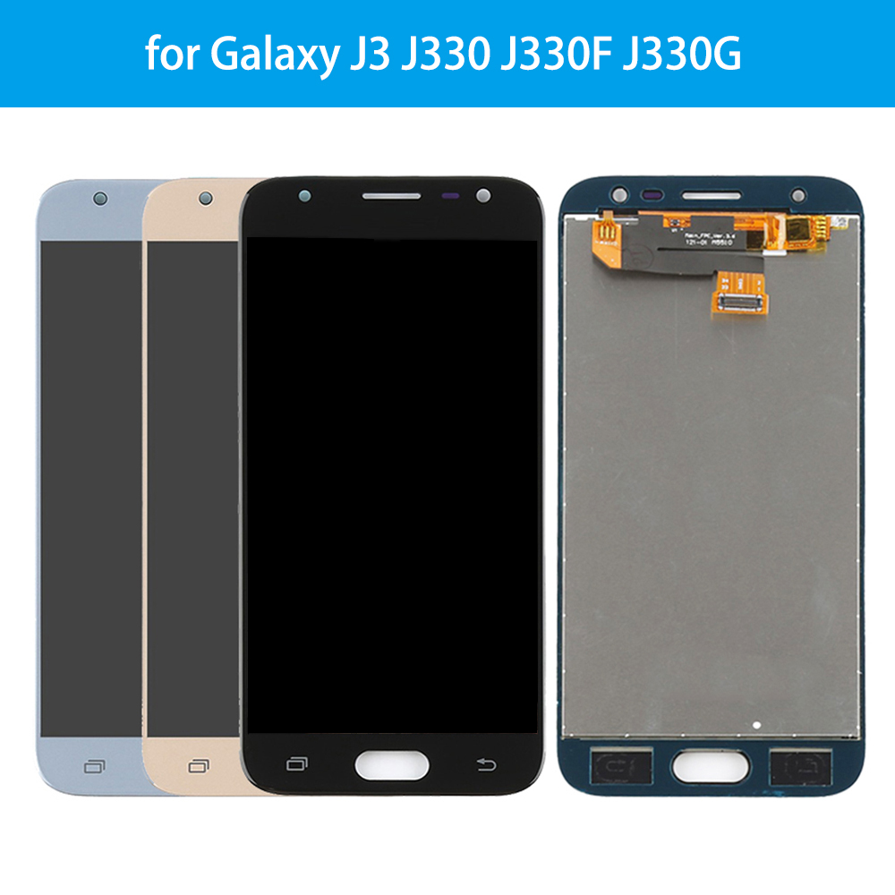 AMOLED Lcd For 5.0'' Samsung-J3 Pro 2017 J330 J330F SM-J330G J330FN LCD Display Touch Screen Digitizer Assembly With Frame+Tools