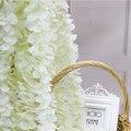 Искусственная Глициния ротанг, шелковая гортензия из ротанга, «сделай сам», свадебная АРКА, украшение для дня рождения, искусственный цвето...