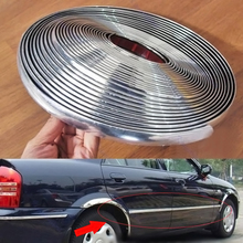 Car trim strips Chrome-plated Rubbing Anti-collision accessories 15M*6mm
