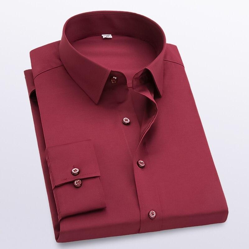 Men's Long Sleeve Shirt Slim Comfortable Long Sleeve Shirt Men's Business Shirt