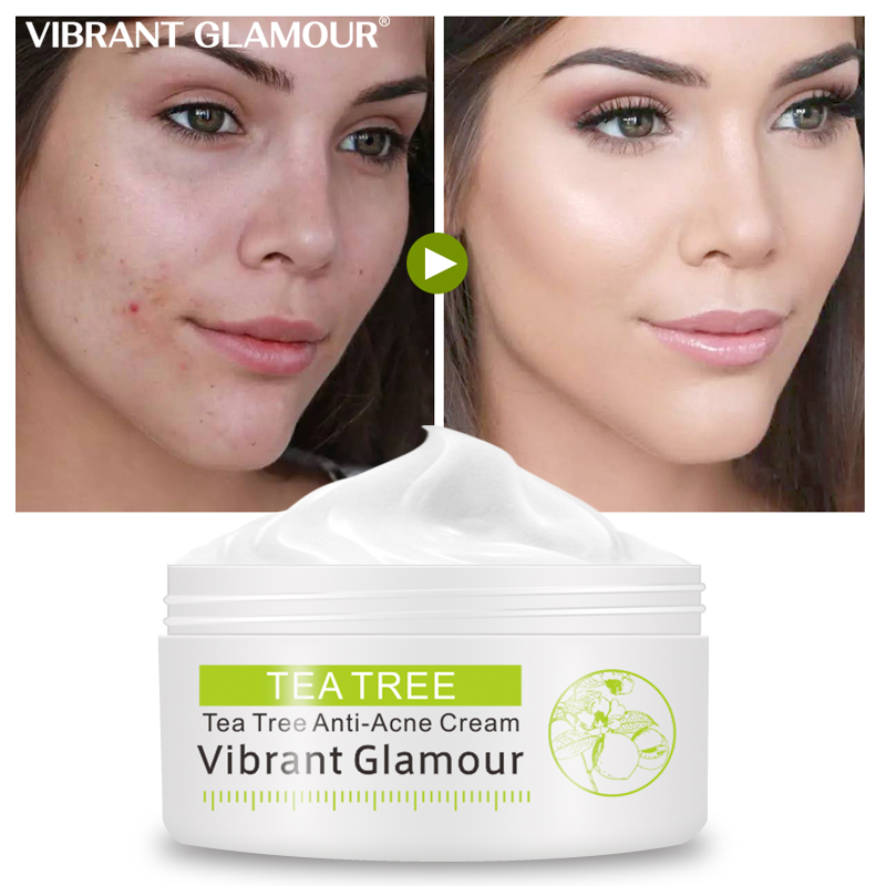 Tea Tree Cleansing Acne Cream Face Anti Acne Marks Rough Pores Deep Cleansing Control Oil Facial Skin Care Cream 30g