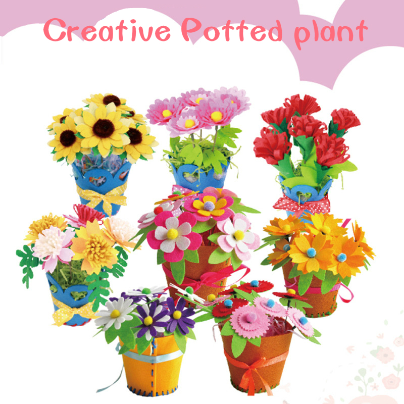Toys For Children Crafts Kids DIY Flower Plant Kindergarten Learning Education Toys Montessori Teaching Aids Toy