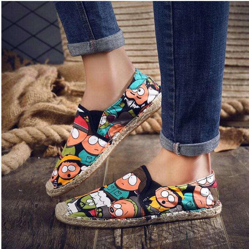 Size 36-45 Women Casual canvas Shoes cartoon Linen Girl Espadrille Fisherman Shoes Ladies Flats Plimsolls Loafers driving shoes