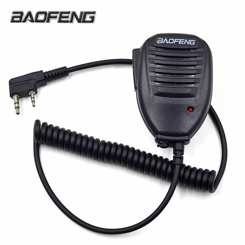 Asli Baofeng Radio Speaker MIC Mikrofon PTT untuk Portabel Dua Cara Radio Walkie Talkie UV-5R UV-5RE UV-5RA Plus UV-6R