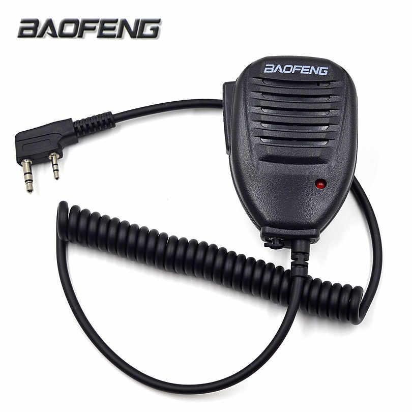 Original Baofeng Radio Speaker Mic Microphone PTT for Portable Two Way Radio Walkie Talkie UV-5R UV-5RE UV-5RA Plus UV-6R