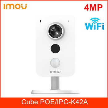 Dahua Imou Cube POE Wifi Wireless Camera 4MP Two-way Talk Built in MIC and Speaker Support PIR and Sound Detection IP Camera