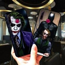 Mroczny rycerz Joker Karta miękki silikonowy pokrowiec do Huawei Honor 10i 20 30 Lite Pro czarny TPU pokrowiec do Huawei Honor 9 10 Lite 9X 8X