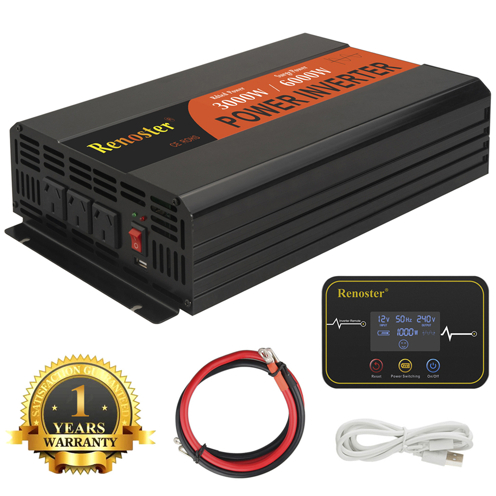 wireless <font><b>inverter</b></font> 12v 220v pure sine wave power <font><b>inverter</b></font> <font><b>3000</b></font>/6000w solar <font><b>inverters</b></font> peak converters with Remote control for car image