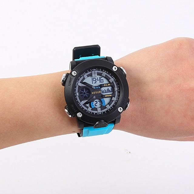 Reloj Digital LED para Hombre, cronógrafo de lujo, con fecha, electrónico, Shock 5