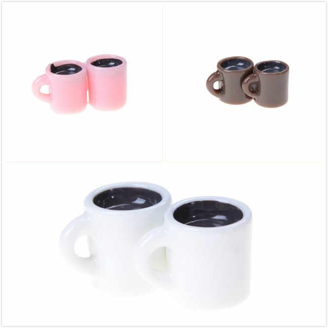Random mini copo para casa de bonecas em miniatura xícara de café cozinha sala comida bebida casa utensílios de mesa decorações