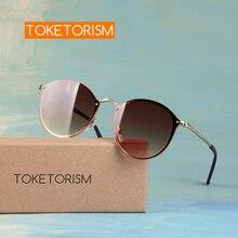 Toketorism NEW uv protection female sunglasses rimless men's fashion glasses 1508