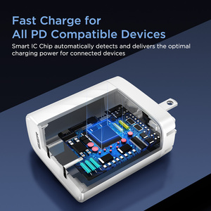 Image 3 - ESR PD Ladegerät 36W Dual Port Protable Reise Ladegerät für iPhone Samsung für iPad Xiaomi Typ c Schnelle lade Adapter USB C Ports