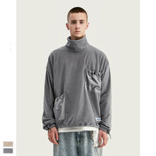 Cooo Coll 19SS Men Women Sweatshirts Loose Simple Turtleneck Oversize Pocket Kanye West Streetwear Harajku Hip Hop Tops Coat