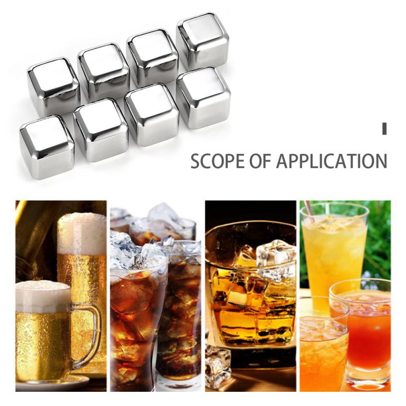1 Pcs Creative Reusable stainless steel Wine Cooler Ice Cube Stones Beer Cooler Cube Chiller Keep Your Drink Cold Longer(China)