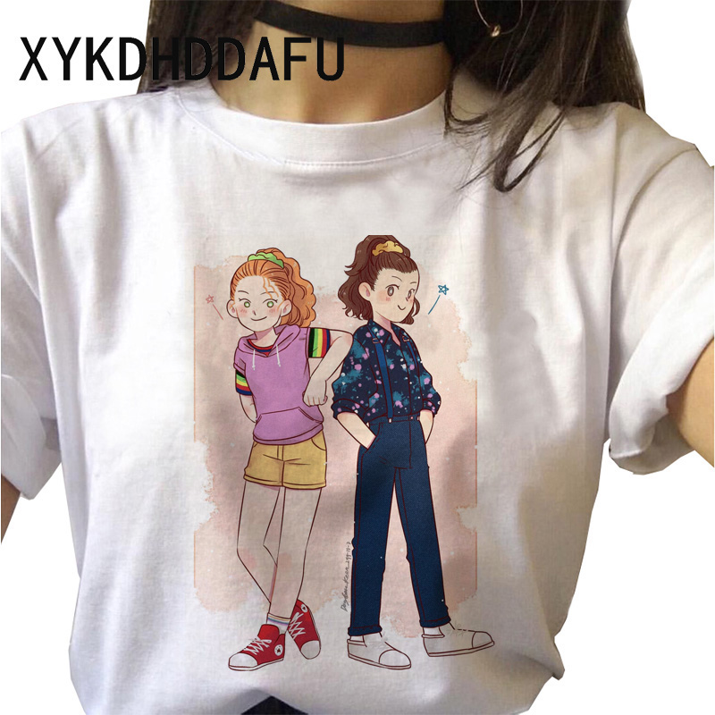 H2f5b387d90dc4fc79d87a552798bea68C - Stranger Things T Shirt Women Harajuku Eleven Aesthetic Streetwear Clothes Vintage Tshirt Female New Summer T-shirt Top Tee