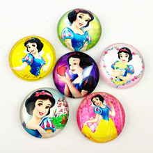 10pcs snow white, Sophia, mermaid,long hair Princess,KT cats,Cartoons doll, diameter 20mm Glass Cabochon for DIY jewelry making