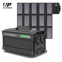ALLPOWERS 78000mA Portable Generator 288Wh Lithium Battery Solar charger with Solar Panel 100W Backup Supply 110V 220V AC Outlet
