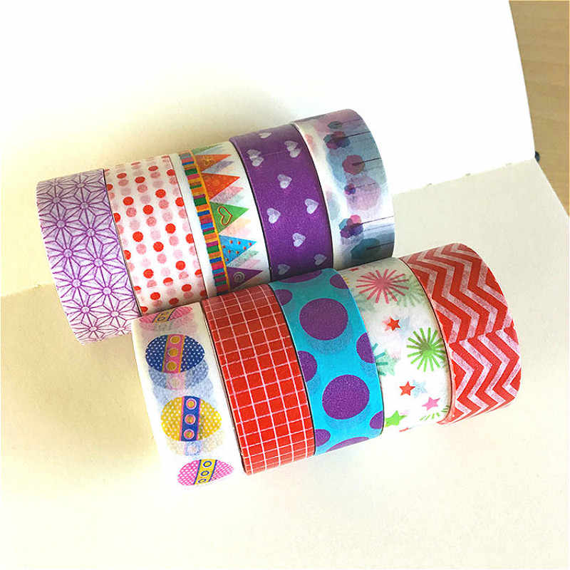 1Pcs Beautiful Pattern Washi Tape DIY Decoration Scrapbooking Planner Masking Tape Adhesive Tape Label Sticker Stationery