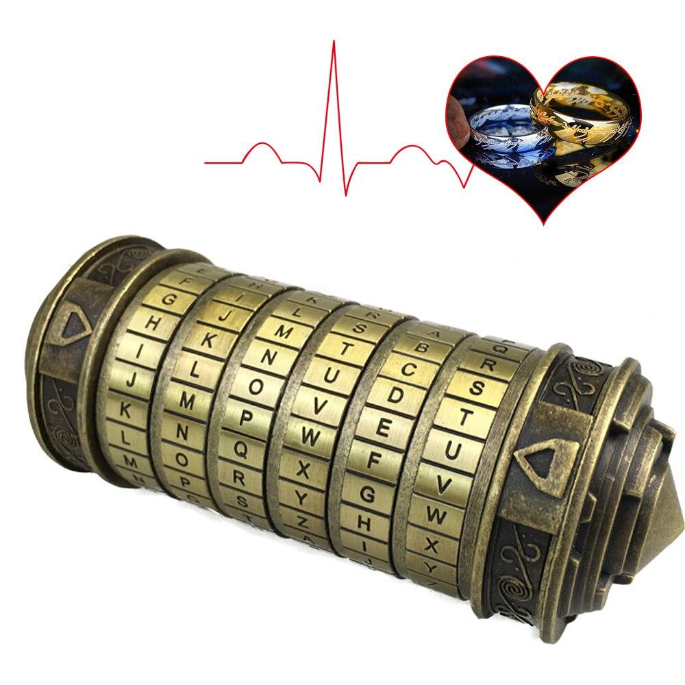 Da Vinci Code Lock Toys Metal Cryptex Locks Retro Wedding Gifts Valentine s Day Gift Letter Password Escape Chamber Props