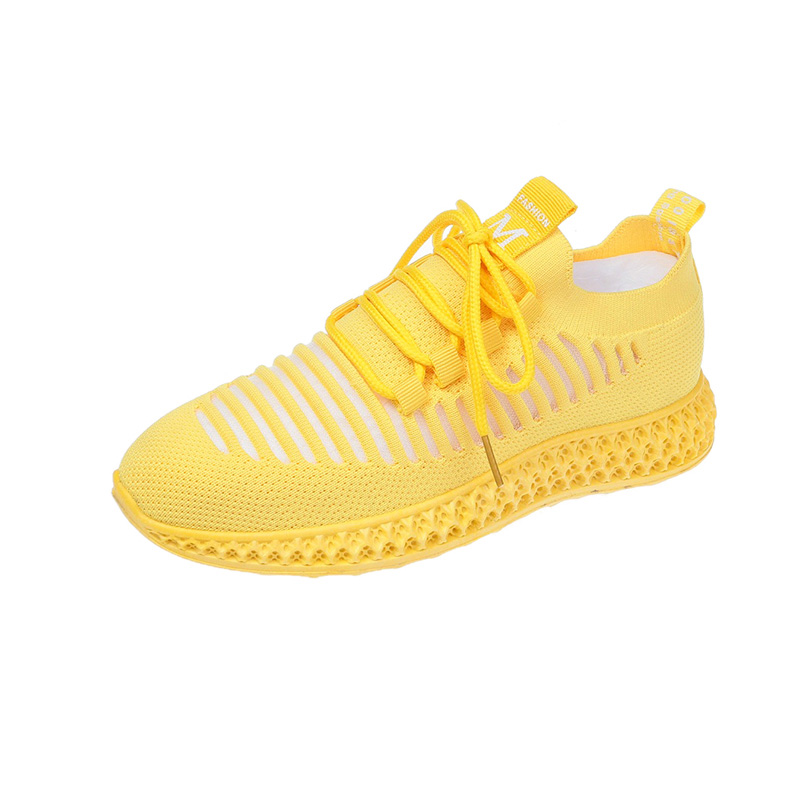 New 2020 summer new Korean version breathable women's sports shoes fly woven running women's casual shoes student mesh shoes