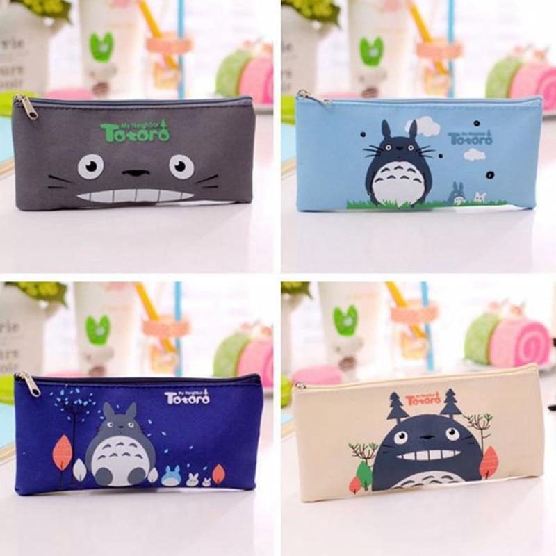 New Fashion Cartoon Totoro Pencil Case Oxford Cloth Hayao Note Bag Cute Rectangular Pencil Bag