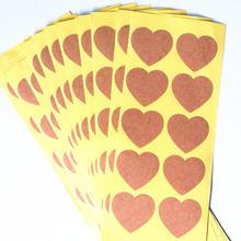 100 штук упак в форме сердца этикетки для печати пустой воловьей