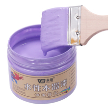 Purple Water-Based Woodwork Paint,Water-Proof&Mildew-Proof Lacquer for Wood,Fabric,Paper,Canvas,Hand-Painted,250g Craft Paints