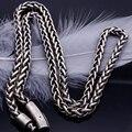Цепочки из нержавеющей стали в винтажном стиле толщиной 4/5 мм, ожерелья длиной 65 см, 25,6 дюйма, металлические звенья, мужские ювелирные аксесс...