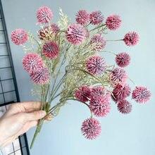 Novo ramo de bola baga plástico artificial flores casamento casa decoração da sala estar plantas artificiales