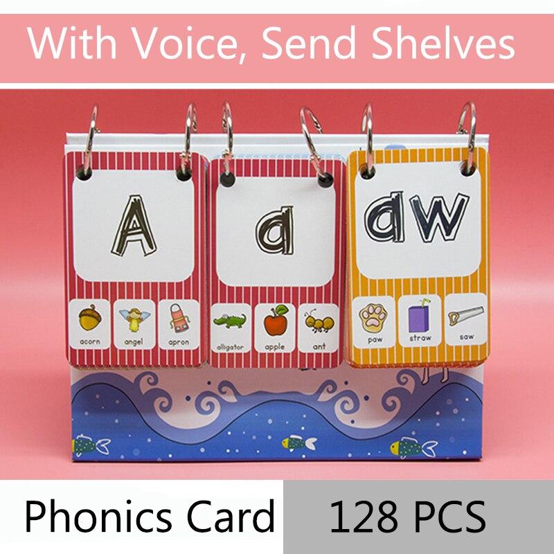 128 pcs set ingles fonics raiz pronuncia regras criancas aprender ingles palavra cartao para criancas aprendizagem