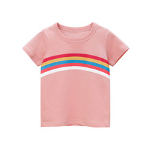 Kids Girls T Shirt Summer Baby Cotton Tops Toddler Tees Clothes Children Clothing Cartoon T-shirts Short Sleeve Casual Wear цена и фото