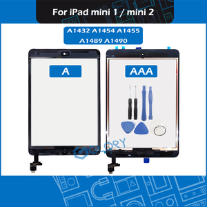 Переднее стекло с дигитайзером для iPad Mini 1 Mini 2, сенсорная панель, черный и белый цвета, A1432, A1454, A1455, A1490, A1489