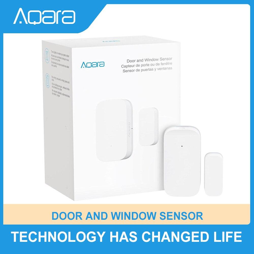 Aqara Door Window Sensor Wireless Mini Contact Sensor for Alarm System and Smart Home Automation Work With Apple HomeKit Alexa
