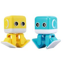 цены For WLtoys Cubee F9Robot Intelligent Programming APP  dual control mode With ultra-sonic sensor Remote Control Dancing robot Toy