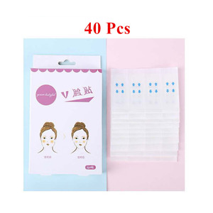 40 Pcs/box Invisible Thin Face Stickers Face Facial Line Wrinkle Sagging Skin V-Shape Face Lift Up Fast Chin Adhesive Tape