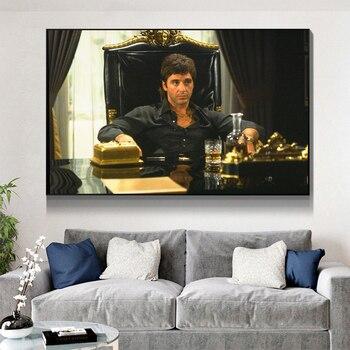 Moderno retrato de Tony Montana pósteres e impresiones artísticos pinturas en lienzo...