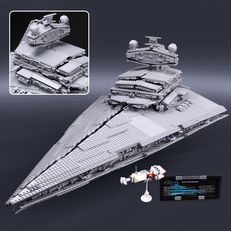 In lager <font><b>05027</b></font> 05028 Star Destroyer Set Kompatibel 10030 10221 ModelK <font><b>Legoinglys</b></font> Star Wars Bouwstenen Ziegel Geschenken image