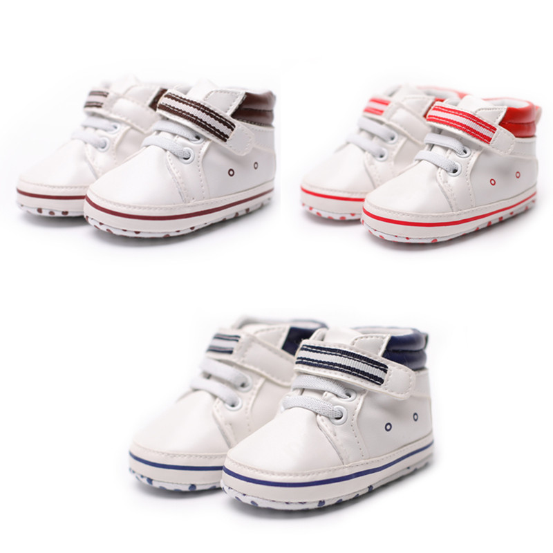 Casual Baby Shoes Baby Boy Girl Sports Shoes PU Cotton Soles Infant Soft Anti-slip Toddler Shoes Baby First Walkers Shoes