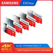 100% オリジナルサムスンマイクロsd 128 ギガバイトevoプラスClass10 U1 32 ギガバイトU3 64 ギガバイト 256 ギガバイト 516 ギガバイトメモリカードmicrosdスマートフォン用pc