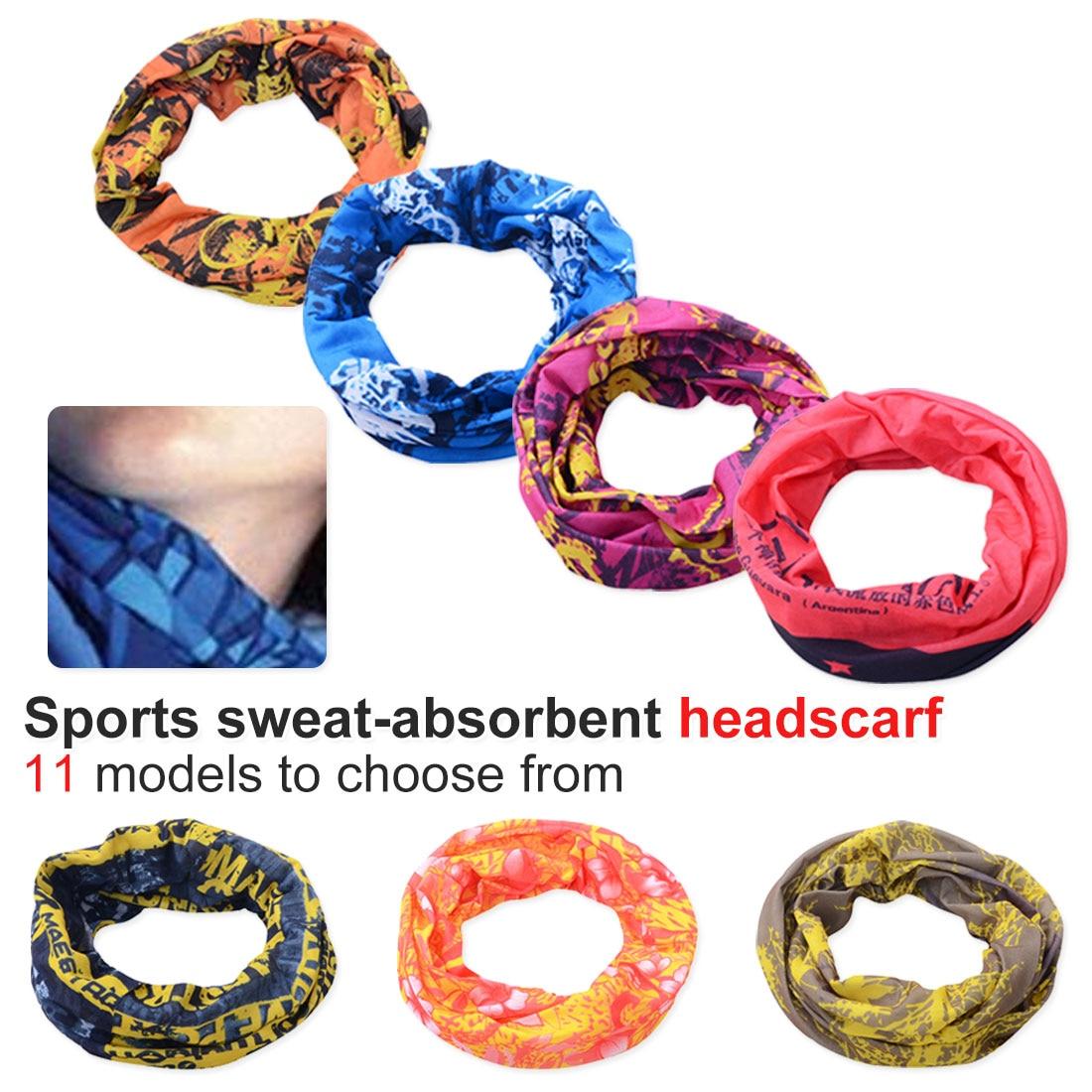 Headwear Headband Cat Colorful Pattern Head Scarf Wrap Sweatband Sport Headscarves For Men Women