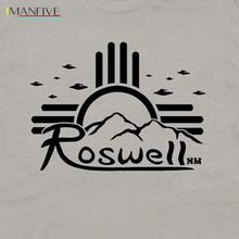Roswell New Mexico Shirt Sun Area 51 Ufo Cool Graphic Tee Alien Flying Saucer Summer Style Hip Hop Rock Men Soccer T Shirts