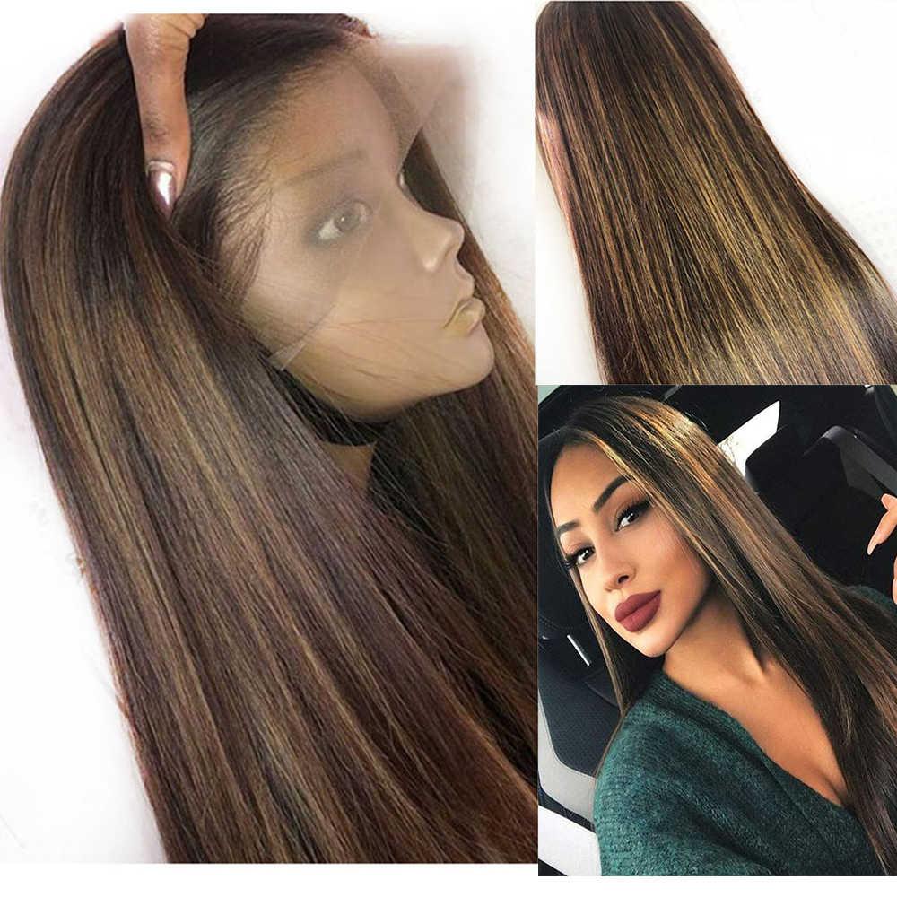 Eversilky #4 27 Ombre Blonde 13x6 \ 13x3 Lace Front Menselijk Haar Pruiken Voor Vrouwen 360 Lace frontale Pruiken Braziliaanse Body Wave Remy Haar