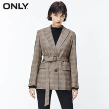 ONLY Autumn Winter Women's Checked Suit Jacket | 119308545(China)