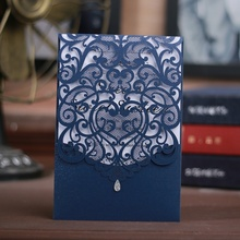 METABLE 10 pieces Laser cut lace pattern wedding invitations cards  with envelops and seals,Wedding & Engagement thank you