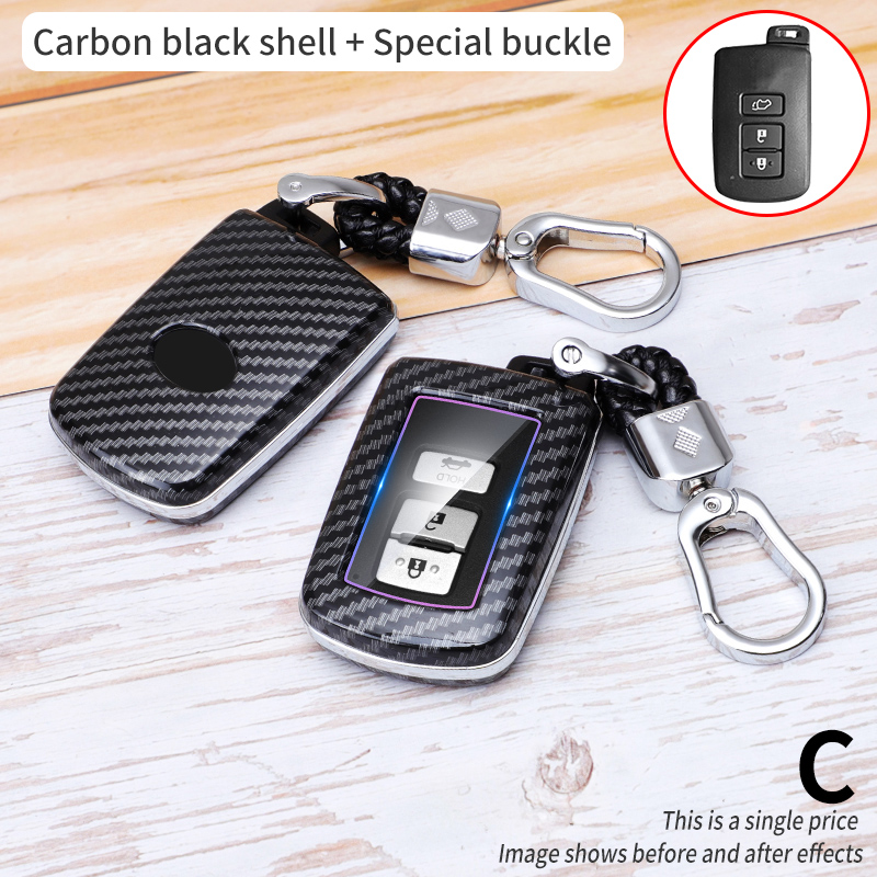 2 3 Button Key Fob Shell Cover Case For Toyota Camry Corolla Avalon Rav4 Land Cruiser chr auris Car Remote Key Holder Protector