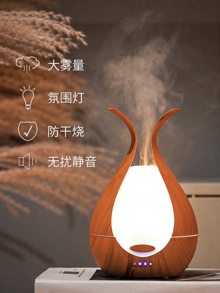 Mute Electric Incense Burner Aroma Lamp Ultrasonic Air Humidifier Bedroom Incense Holder Home Smell Aroma Oil Burner New MM60XXL